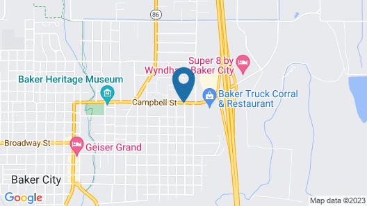 Rodeway Inn Baker City Map