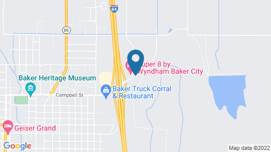 Super 8 by Wyndham Baker City Map
