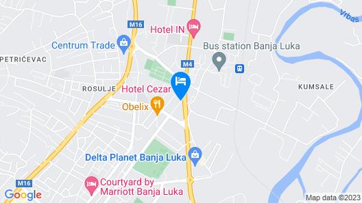 Cezar Hotel Map