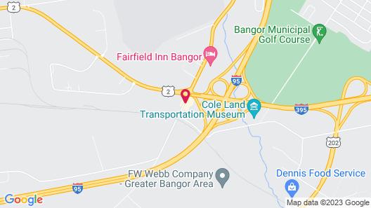 Holiday Inn Bangor, an IHG Hotel Map