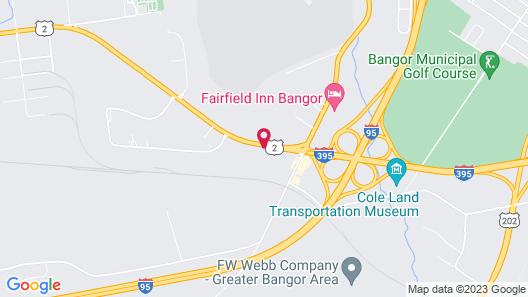 Motel 6 Bangor, ME Map