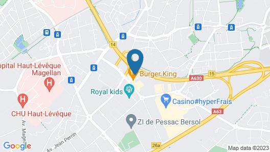 Premiere Classe Bordeaux Sud-Pessac Becquerel Map