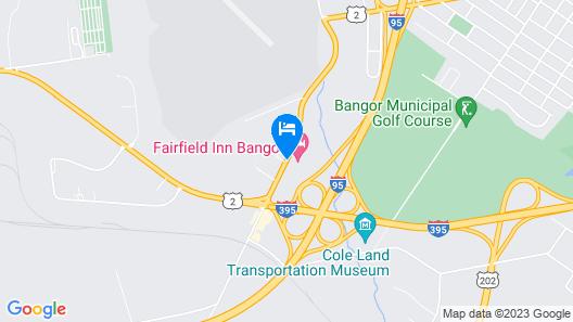 Fairfield Inn By Marriott Bangor Map