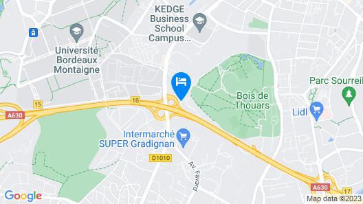 Campanile Bordeaux Sud Gradignan Talence Map