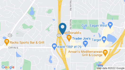 Days Inn by Wyndham Eagan Minnesota Near Mall of America Map
