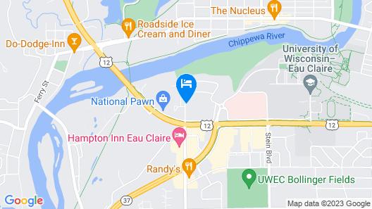 Motel 6 Eau Claire, WI Map