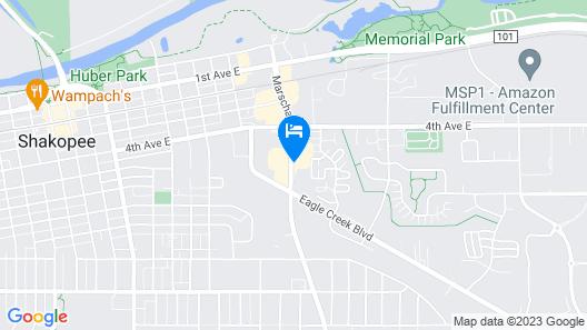 Shakopee Inn - Shakopee-Minneapolis Map