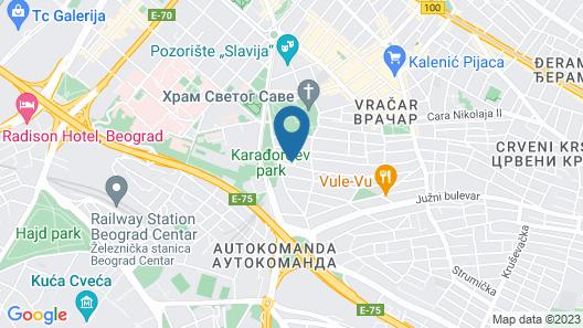 Crystal Hotel Belgrade Map