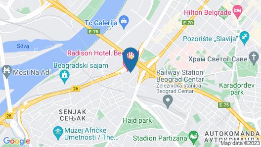 Radisson Collection Hotel, Old Mill Belgrade Map