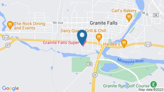 Super Motel Granite Falls Map