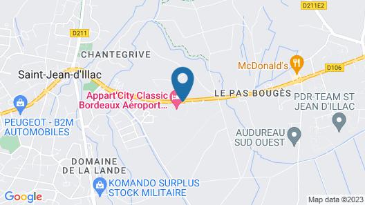 Appart'City Bordeaux Aéroport St Jean D'Illac Map