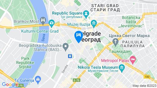 Feel Belgrade Aparthotel Map