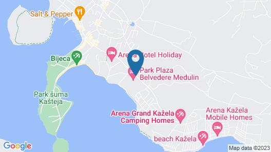 Park Plaza Belvedere Medulin Map