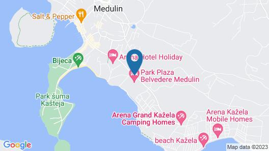 Ai Pini Medulin Resort Map