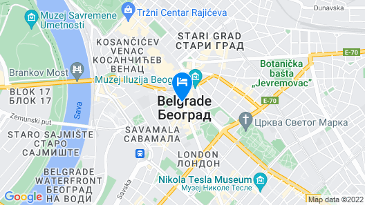 Hotel Moskva Map