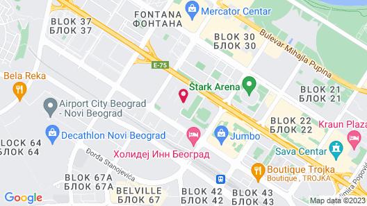 Holiday Inn Belgrade Map