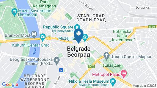 Eden Luxury Suites Terazije Map