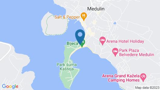 Arena Medulin Mobile Homes Map