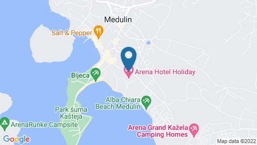 Arena Hotel Holiday Map