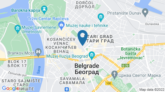 Courtyard Marriott Belgrade City Center Map