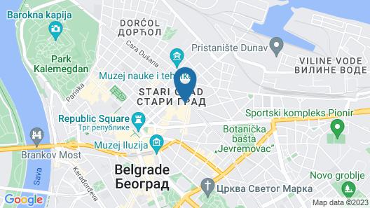 Hotel Bohemian Garni - Skadarlija Map