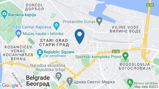 Belgrade Center Apartment Skadarlija Map