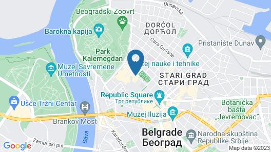 Square Nine Hotel Belgrade Map