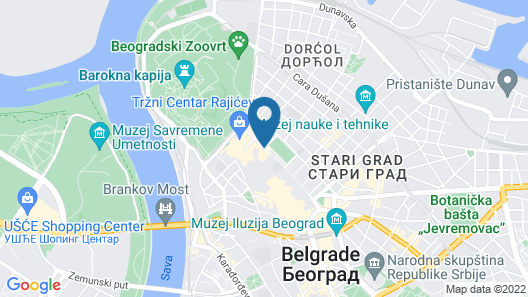 Square Nine Hotel Belgrade Map