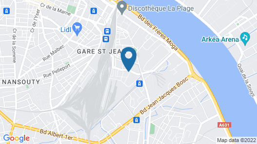 Golden Tulip Bordeaux - Euratlantique Map