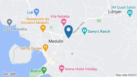 Apartments Orange Medulin Map