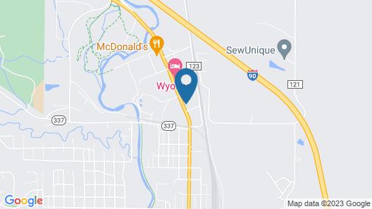 Trail's End Motel Sheridan Map