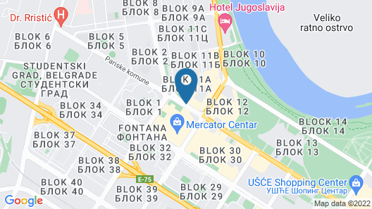 Falkensteiner Hotel Belgrade Map