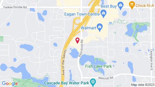 TownePlace Suites Marriott Minneapolis St Paul AirportEagan Map