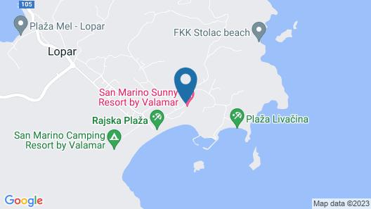San Marino Sunny Resort by Valamar Map