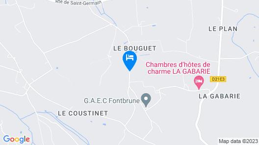 Chambres d'hôtes de charme La Gabarie Map