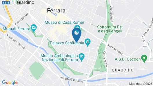 Exclusive Palazzo Schifanoia Apartment Map