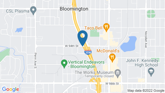 Holiday Inn Bloomington Airport South Mall Area, an IHG Hotel Map
