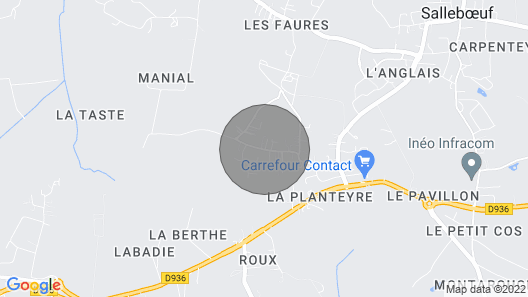 House Wood Frame Gironde Near Bordeaux Map