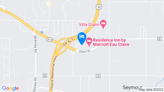 Residence Inn by Marriott Eau Claire Map