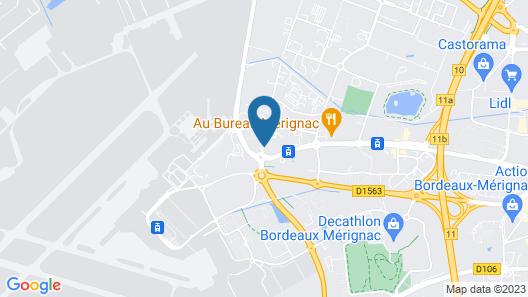 ibis budget Bordeaux Aeroport Map