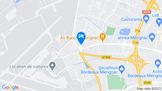 Mercure Bordeaux Aeroport Map