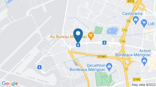 Brit Hotel Bordeaux Aéroport - Le Soretel Map