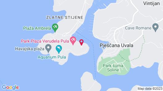 Park Plaza Histria Pula Map