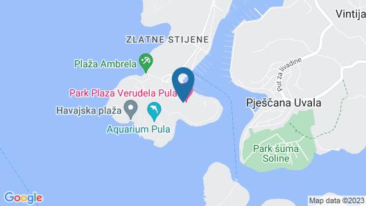 Park Plaza Verudela Pula Map