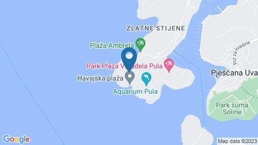 Park Plaza Arena Pula Map