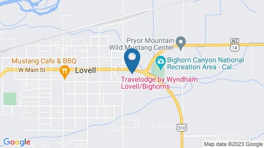 Travelodge by Wyndham Lovell/Bighorns Map