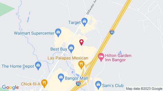 Bangor Inn & Suites Map
