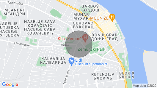Casa Ana`s Oasis in the Center of Belgrade Map