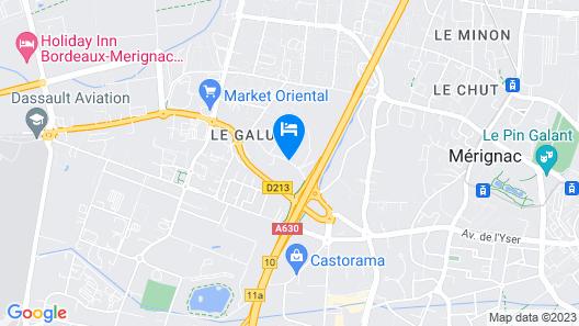 All Suites Appart Hotel Merignac Map