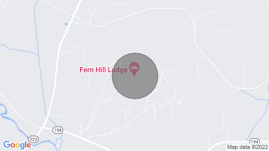 Fishing at Fern Hill Lodge-luxury Log Retreat in Wine Country Map